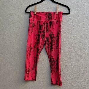 Pants - Black and pink Under Armour Crop pants
